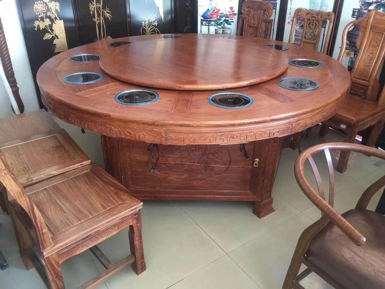 廣西實木電動餐桌