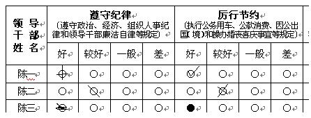 普通纸干部考评系统