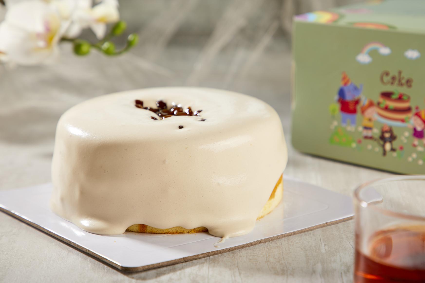 珍珠爆醬奶蓋蛋糕