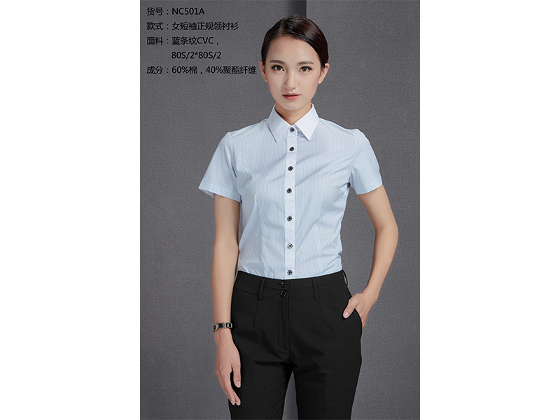 NC501A 女短袖正规领衬衫