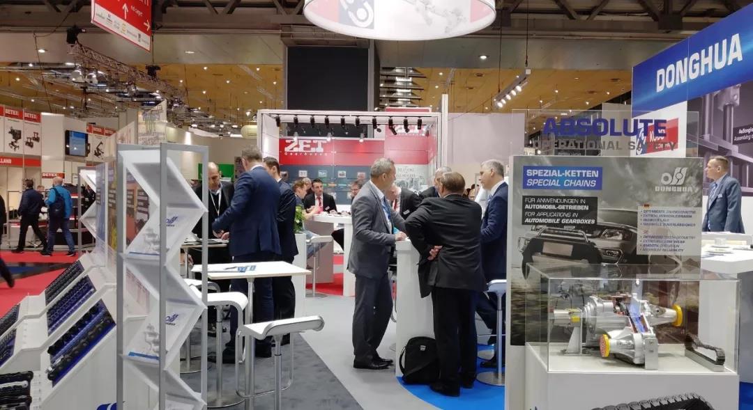 东华集团在汉诺威博览会上展示链传动系统解决方案