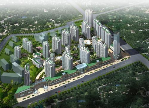 楼宇绿化效果图