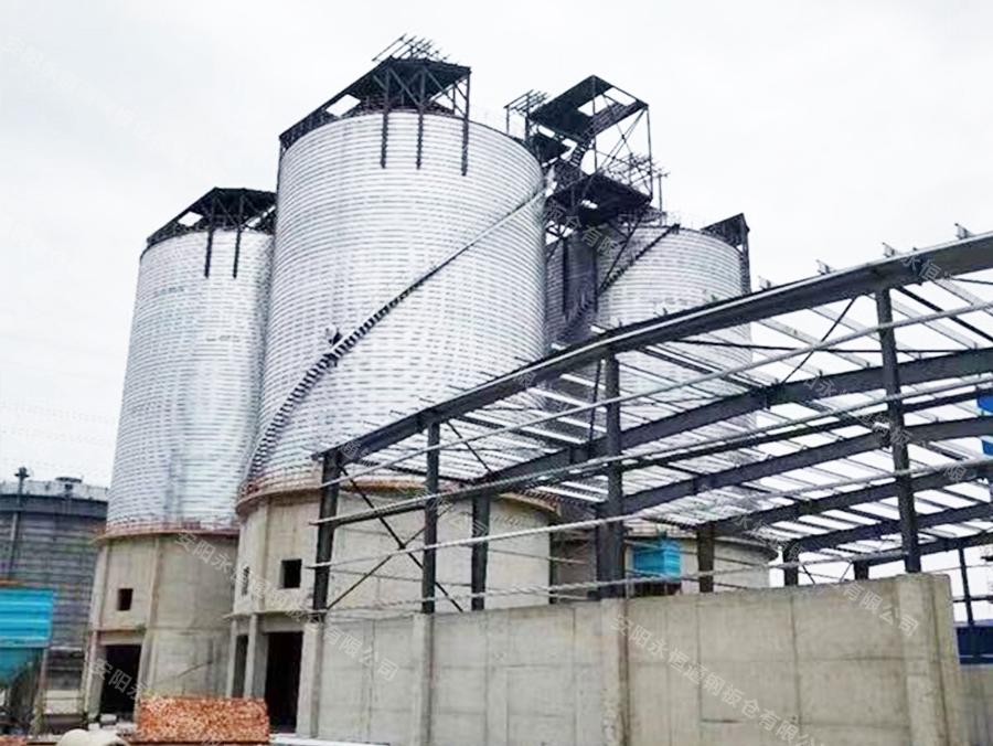 砂石骨料生产线选用钢板仓的优势解密!