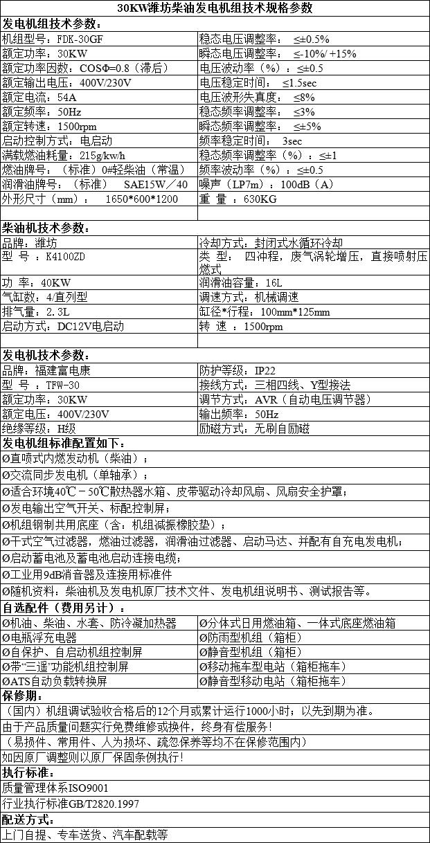 福建潍坊柴油发电
