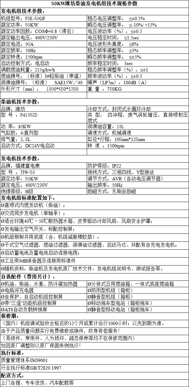 福建潍坊柴油发电机