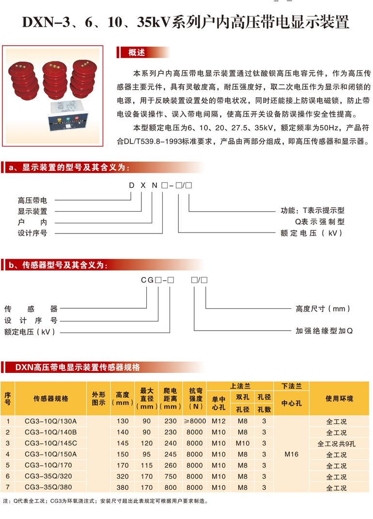 DXN-3、6、10、35kV高壓帶電顯示裝置