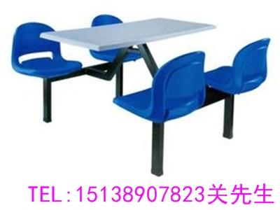 周口不锈钢连体餐桌椅