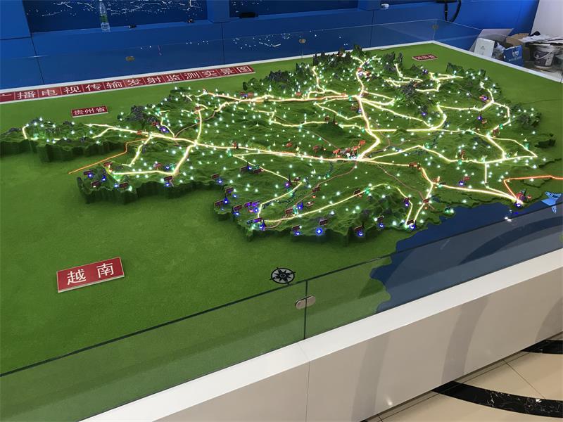 廣西地形模型