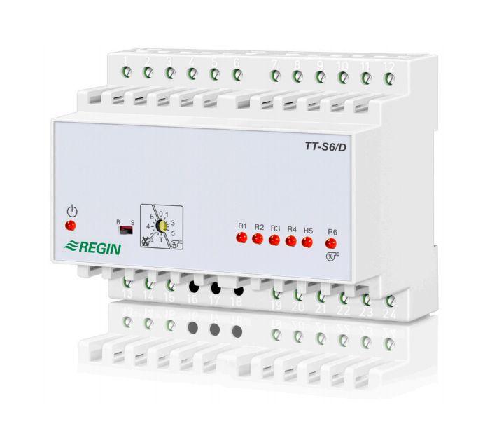 TT-S6/D用于控制电加热盘管6级步进控制器