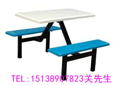 济源四人长条餐桌椅