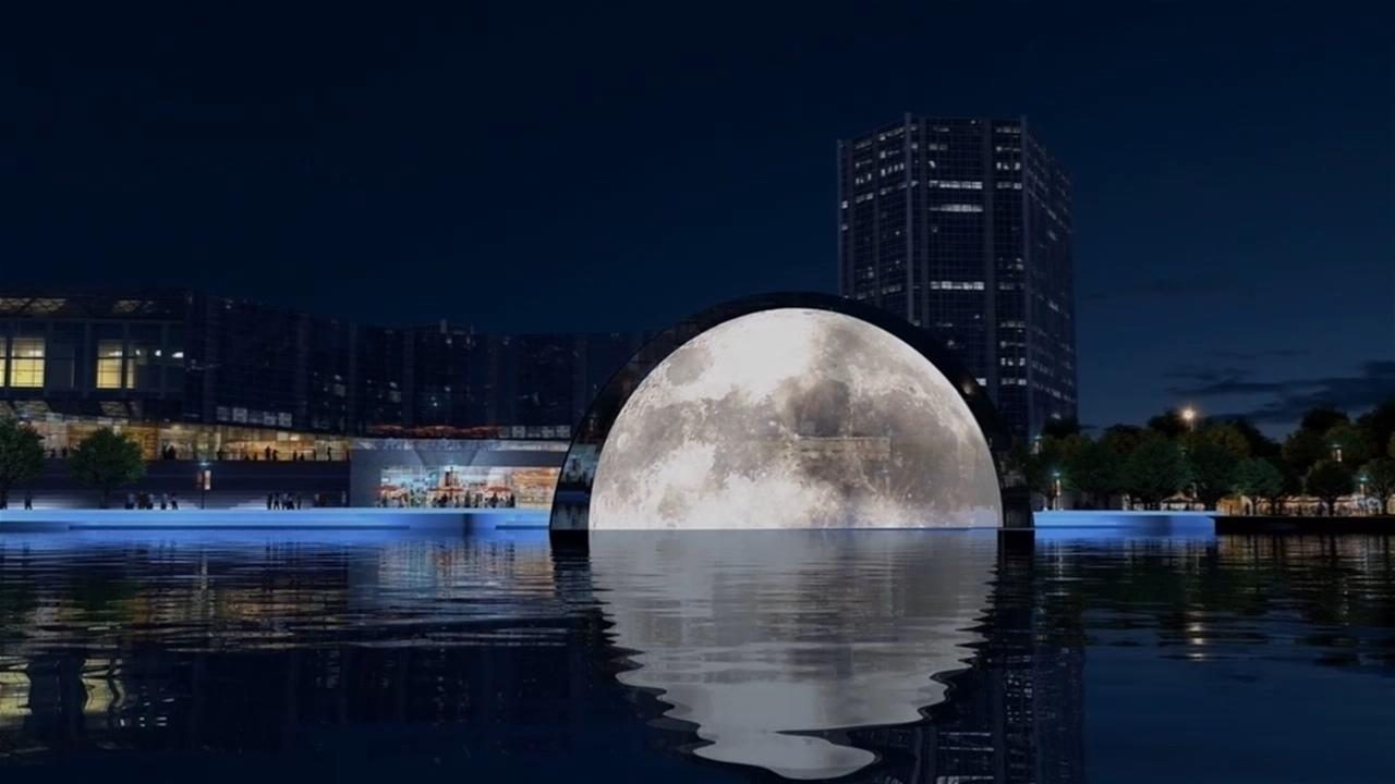 光谷新月溪水秀