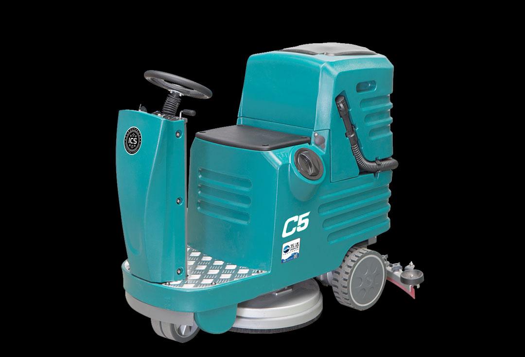 宇洁星 C5 驾驶式电瓶洗地机