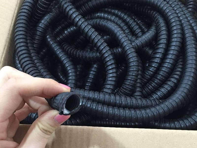 不锈钢平包塑软管