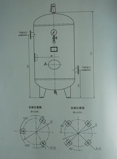 不锈钢储气罐(0.8~1.6MPa)