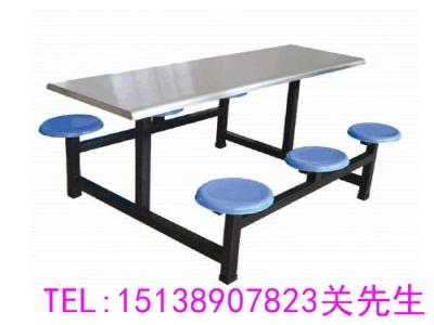周口六人人连体餐桌凳