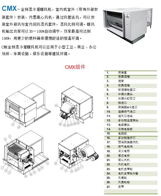 CMX—全预混冷凝暖风机