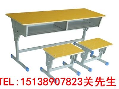 河南双人固定课桌凳