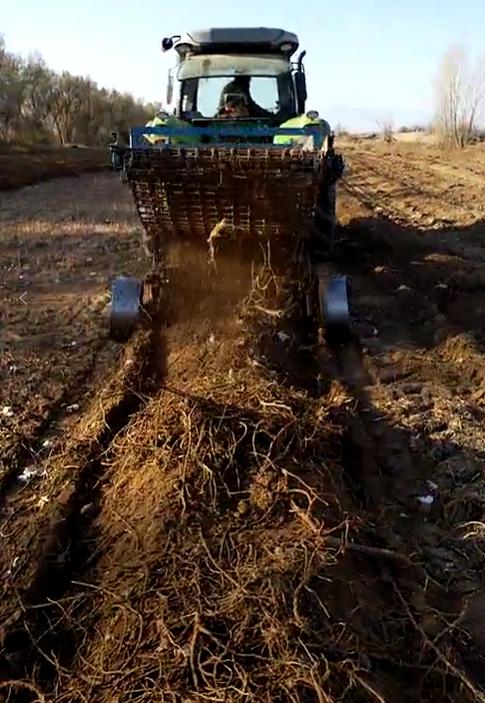 加深型根茎收获机