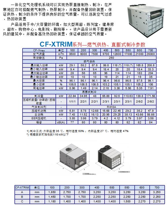 CF-XTRIM系列(燃气供热、直膨式制冷)
