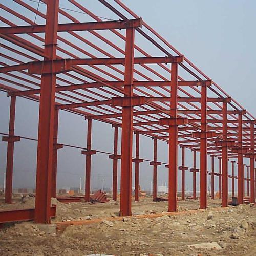 钢结构蜂窝梁雨棚工程