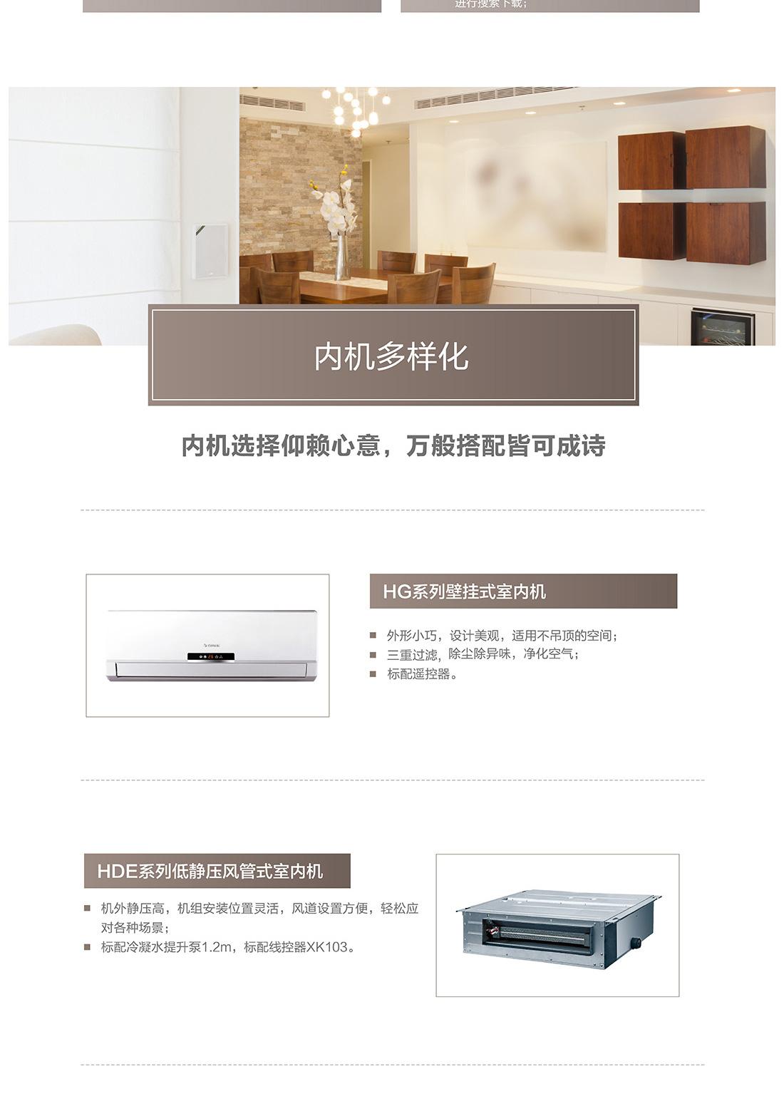 GMV 智睿变频变容家庭中央空调