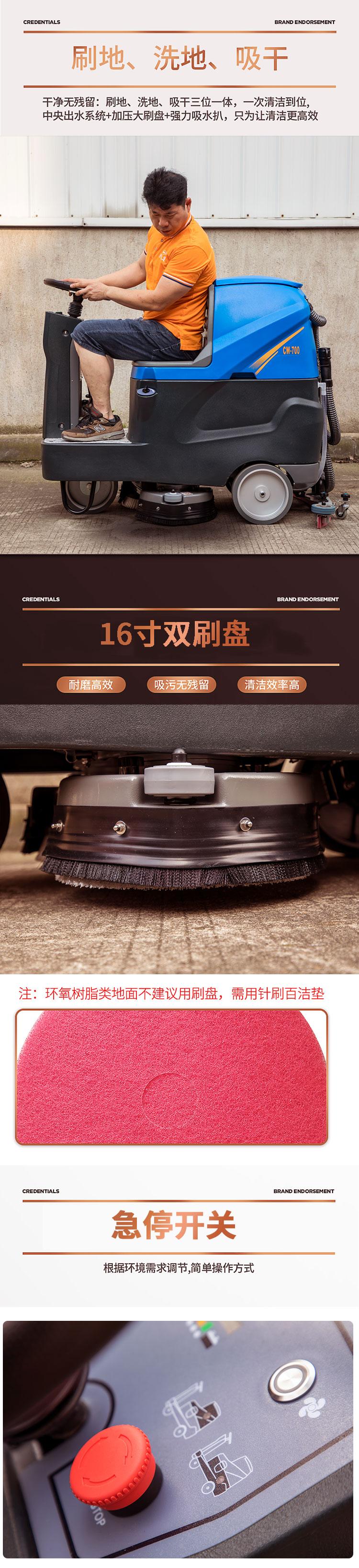 尚勇SYX-80迷你驾驶型洗地车
