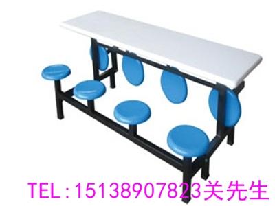 新乡八人连体餐桌椅