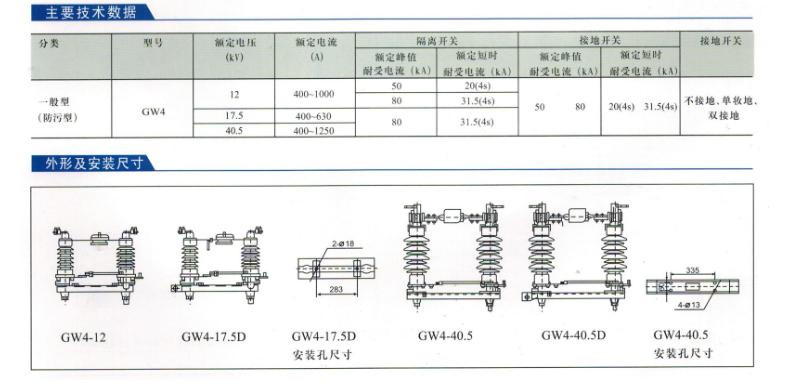 GW5户外交流高压隔离开关 高压交流隔离开关