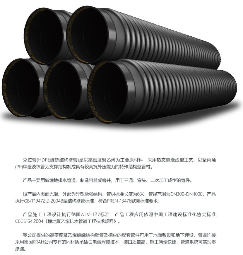 HDPE缠绕结构壁B型管