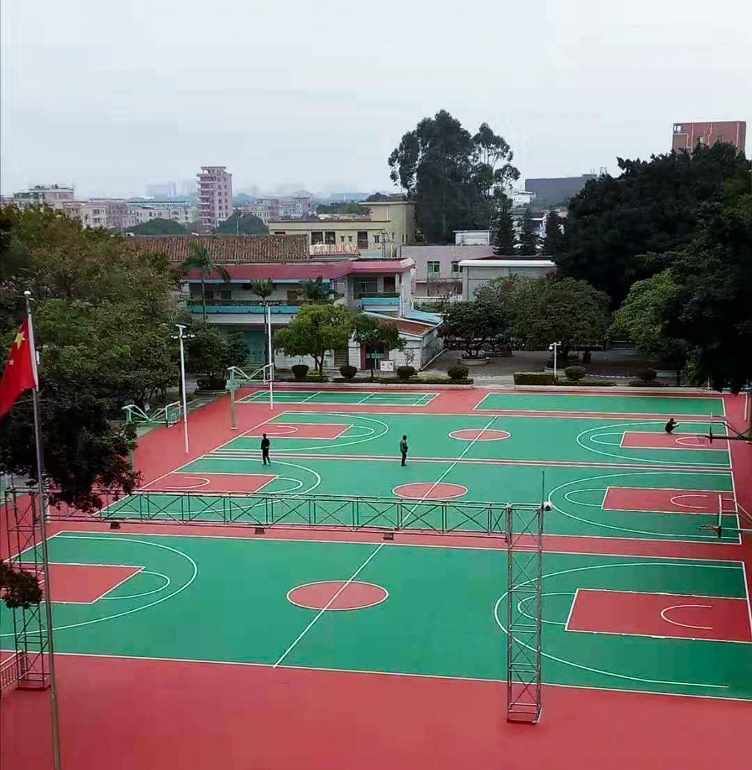 广西硅PU篮球场