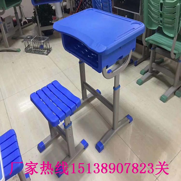 鶴壁學生單人鋼木課桌凳