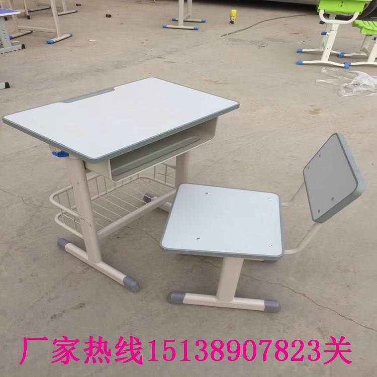 信阳学生单人钢木课桌凳