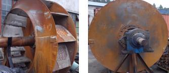 大型离线风机转子的现场修复方法