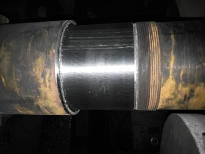 脫硫風機Y4―2x73/24.5F轉子軸維修