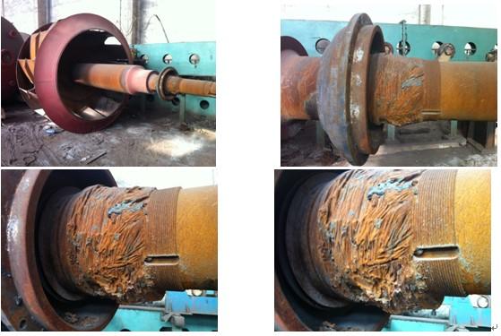 風機主軸軸承抱死燒損修復