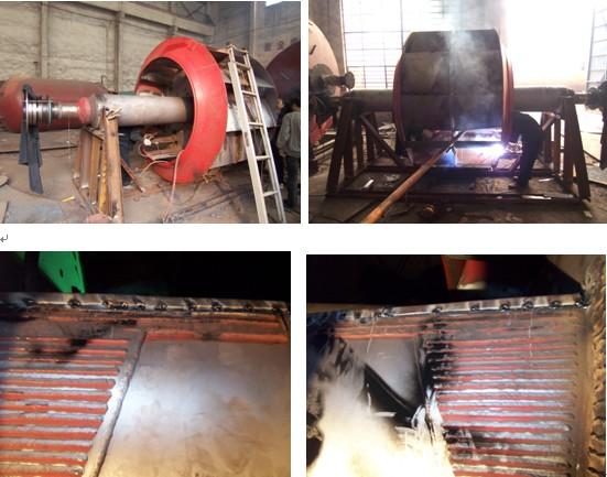 高爐礦槽風機空心葉片進灰處理