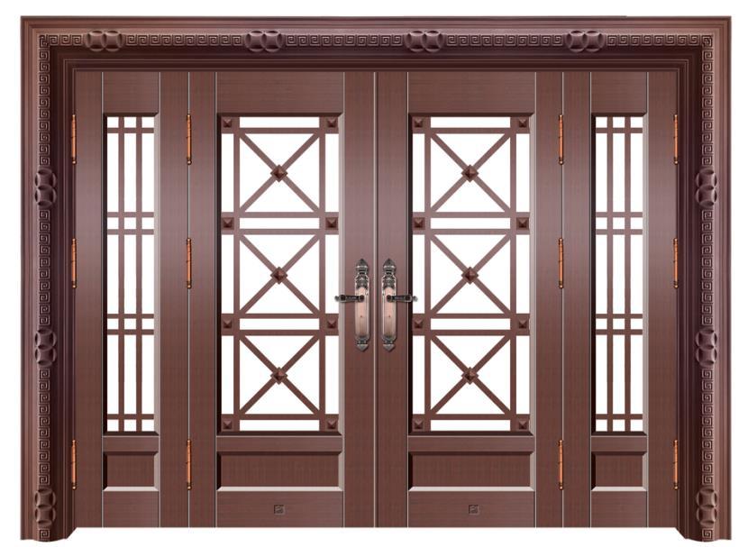 豪華別墅玻璃銅門