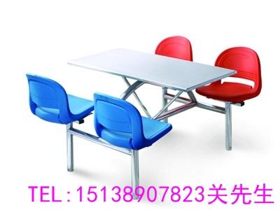 洛阳不锈钢连体餐桌凳