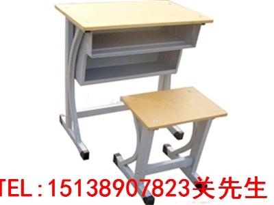 郑州单人钢木课桌凳