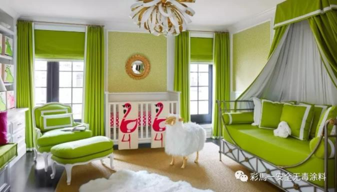 檸檬綠墻面漆