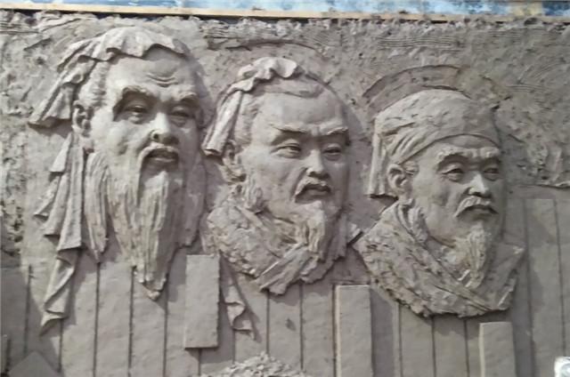 文化墙壁画浮塑