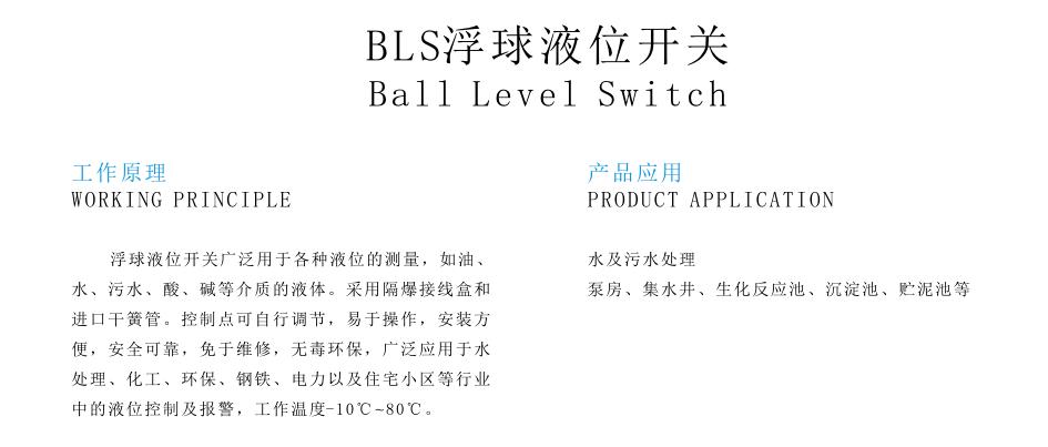 BLS浮球液位开关
