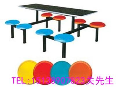 信陽八人連體餐桌椅