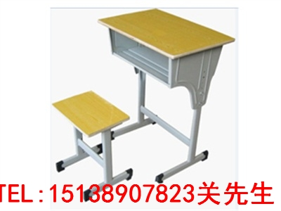焦作单人钢木课桌椅