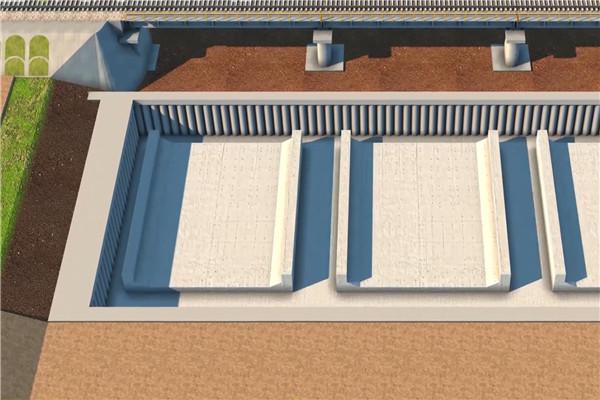 钢箱梁顶推施工动画制作
