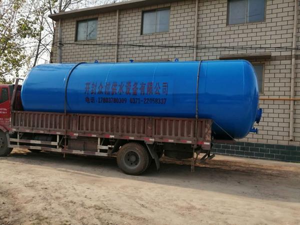 40噸/40立方臥式無塔供水壓力罐