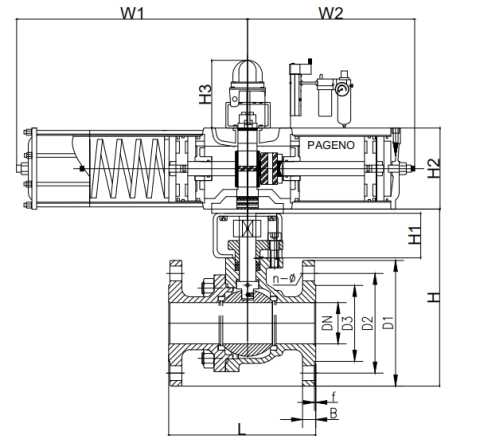 PDRQ641F氣動切斷球閥