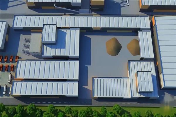 大型建筑工程施工动画