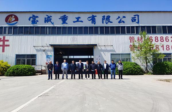 天津钢管制造公司总经理张积敏到访宝成