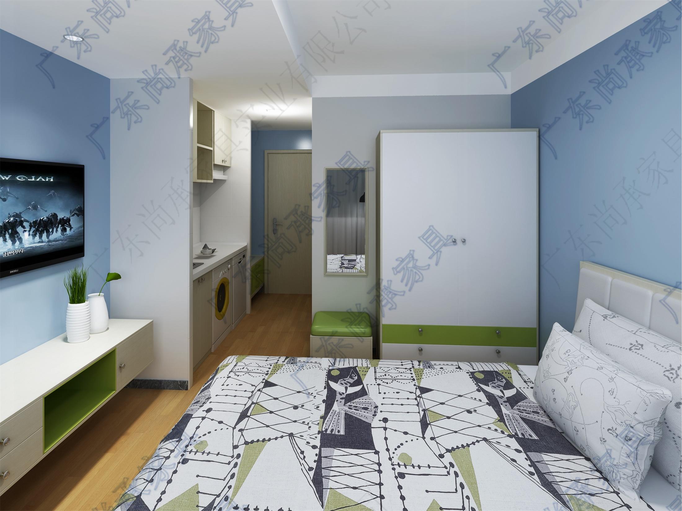 公寓式酒店清新系列(標單淺色配綠)